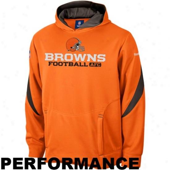 Cleveland Browns Fleece : Reebok Cleveland Browns Orange Turbine Performance Fleece