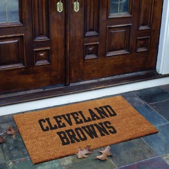 Cleveland Browns Flocked Coir Door Mat