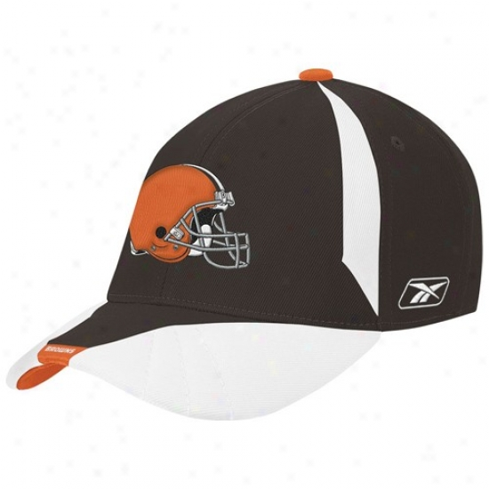 C1eveland Browns Hat : Reebok Cleveland Browns Youth Brown Flex Fit Hat