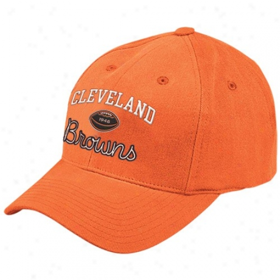 Cleveland Browns Hat : Reebok Cleveland Browns Orange Basic Logo Adjustable Hat