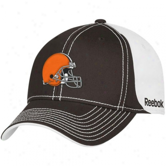 Cleveland Browns Cardinal's office : Reebok Cleveland Browns Brown-white 2010 Coaches Adjustable Hat