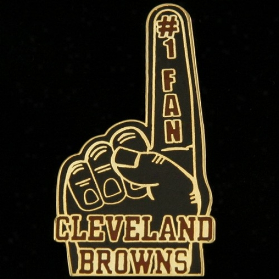 Cleveland Browns Hats : Cleveland Browns #1 Fan Pin