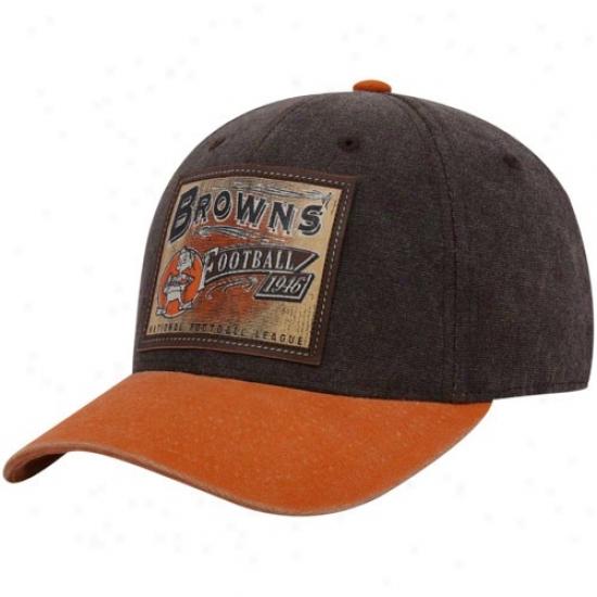Cleveland Browns Hats : Reebok Cleveland Browns Brownn Pro Shape Flex Hats