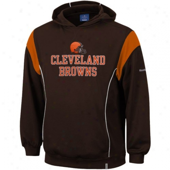 Cleveland Browns Hoody : Reebok Cleveland Browns Brown Showboat Hoody
