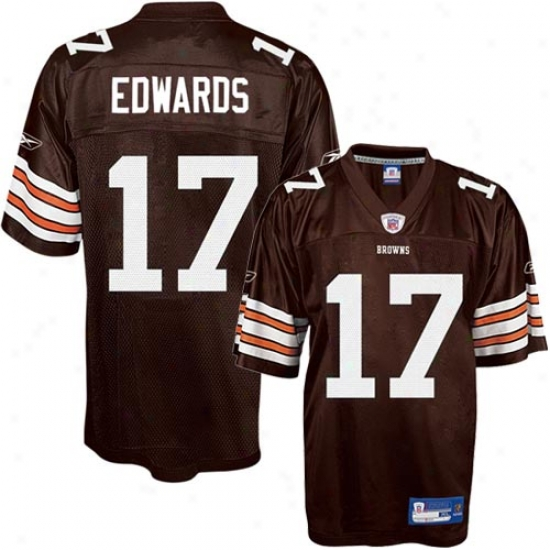 Cleveland Browns Jeersey : Reebok Nfl Equipment Cleveland Browns #17 Braylon Edwards Brown Youth Replica Jersey