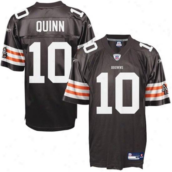 Cleveland Browns Jersey : Reebok Nfl Equipment Cleveland Browns #10 Brady Quinn Brown Youth Replica Football Jersey