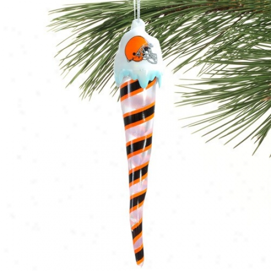 Cleveland Btowns Light-up Icicle Ornament