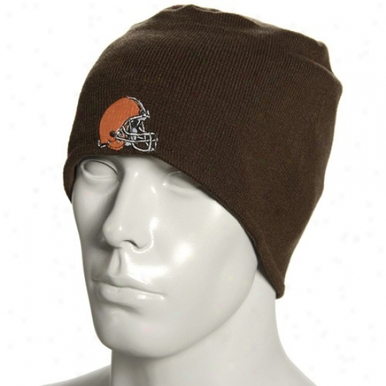 Cleveland Browns Merchandise: Reebok Cleveland Browns Brown Plane Join Rdversible Beanie