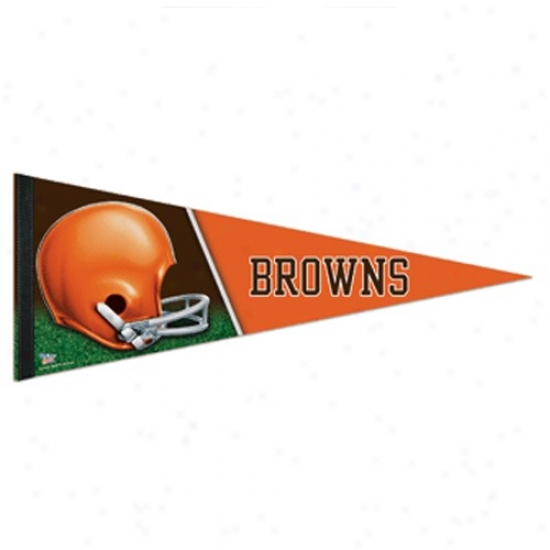 Cleveland Browns Orange 12'' X 30'' Premium Felt Pennant