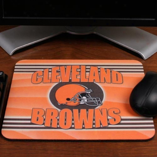 Cleveland Browns Orange End Zone Neoprene Mousepad