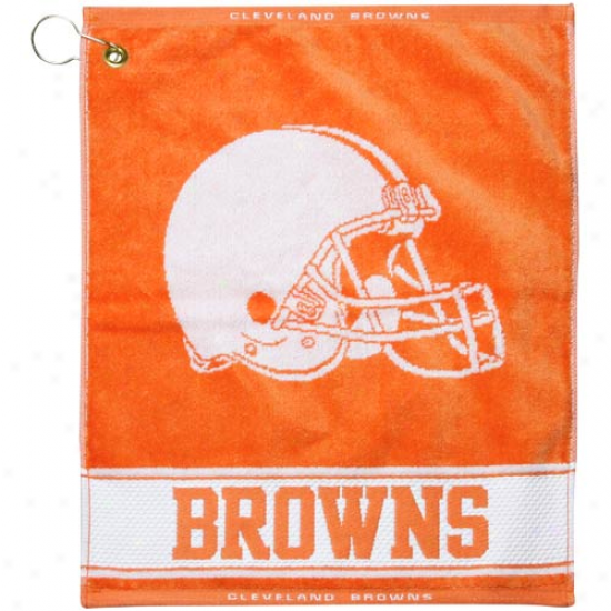 Cleveland Browns Orange Woven Jacquard Gopf Towel