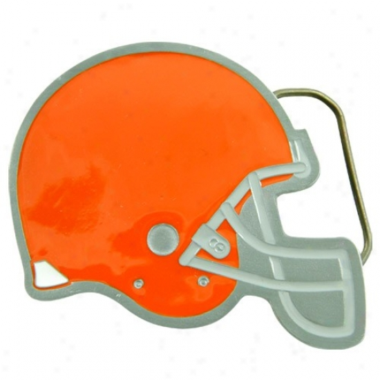 Cleveland Browns Pewter Team Logo Belt Buckle