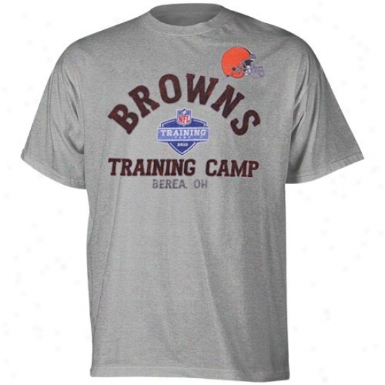 Cleveland Browns Shirt : Reebok Cleveland Browns Ash August Afternoon Shirt