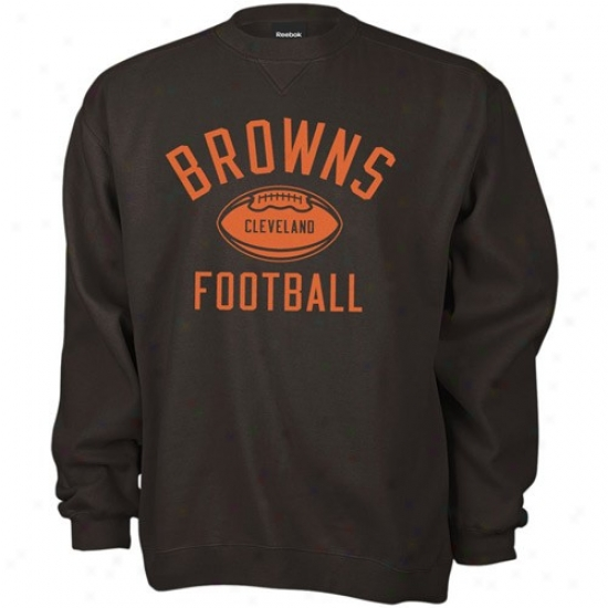 Cleveland Browns Stuff: Reebok Cleveland Browns Brown Work Out Sweatshirt