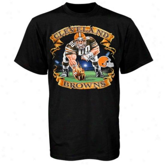 Cleveland Browns T-shirt : Cleveland Browns Black Banner T-shirt