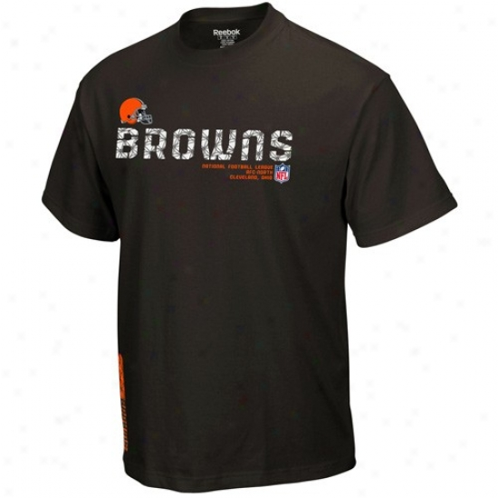 Cleveland Browns T Shirt : Reebok Cleveland Browns Brown Sideline Tacon T Shirt
