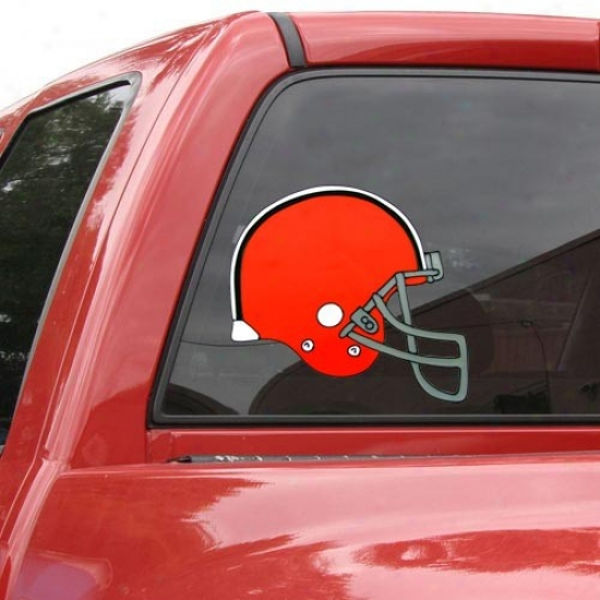 """cleveland Browns Team Helmet 12"""" Window Embrace"""