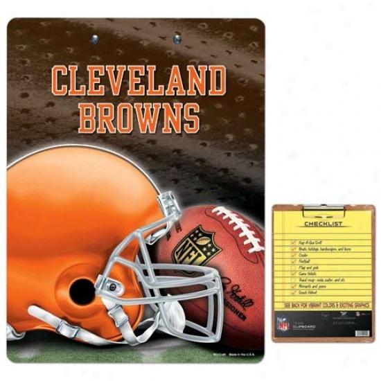Cleveland Brwos Team Logo Clipboard