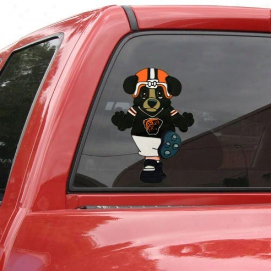 Cleveland Browns Team Mascot 12'' Window Cling