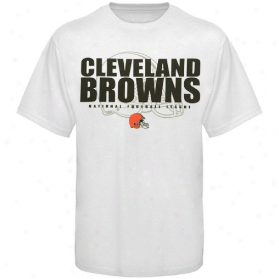 Cleveland Browns Tshirt : Cleveland Browns White Field Of Play Tshirt