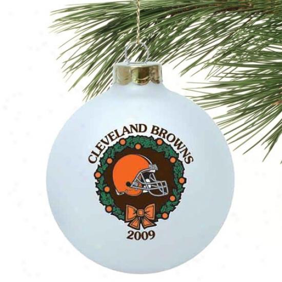Cleveland Browns White 2009 Collectors Succession Ornament