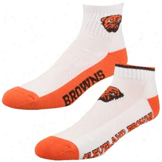 Cleveland Browns White-orange Two-pack Socks