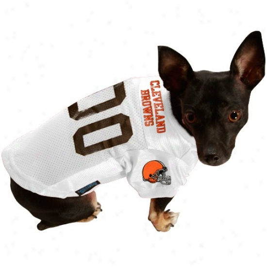 Cleveland Browns White Pet Jersey