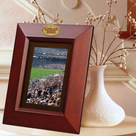 Cleveland Browns Wooden Vertical Picture Frame