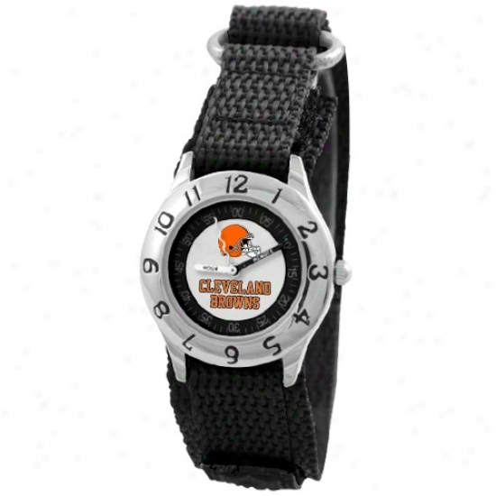Cleveland Browns Wrist Watch : Cleveland Browns Youth Black Time Teacher Wrist Watch