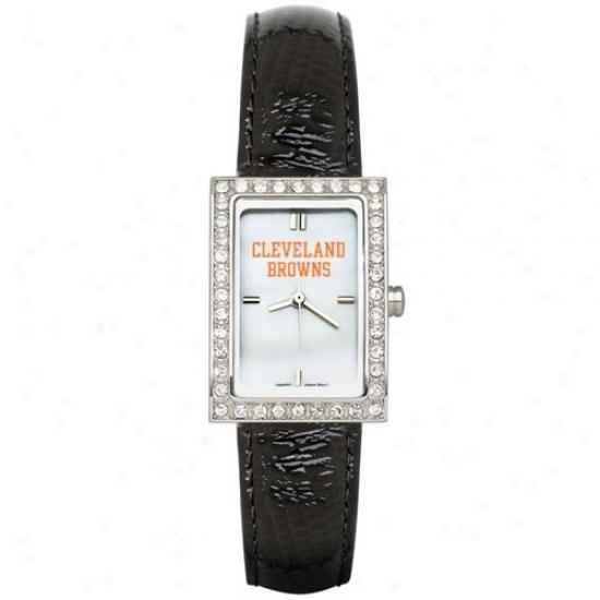 Cleveland Browns Wrist Watch : Cleveland Browns Ladies Black Allure Wrist Watch
