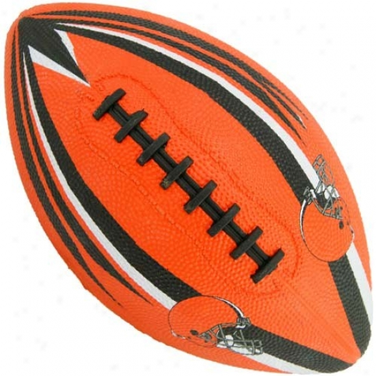 Cleveland Browns Youthh Orange Hail Mary Rubber Football
