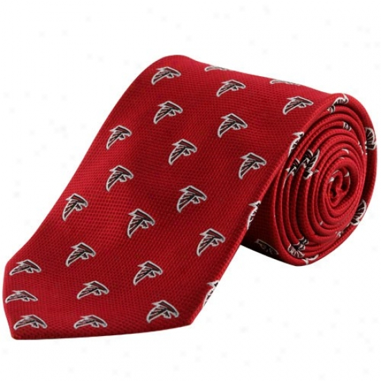 Colony Sportswear Atlanta Falcons Red Silk Team Logo Tie