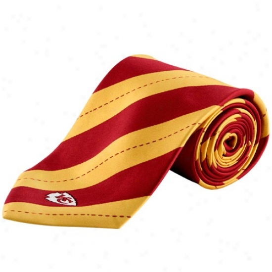 Colony Sporsteear Kansas City Chiefs Red-gold Rep Stripe Tie