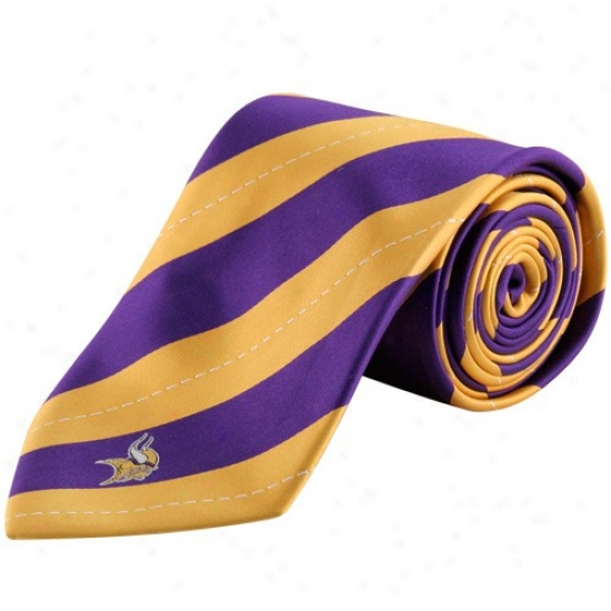 Colony Sportxwear Minnesota Vikings Purple-gold Rep Stripe Tie