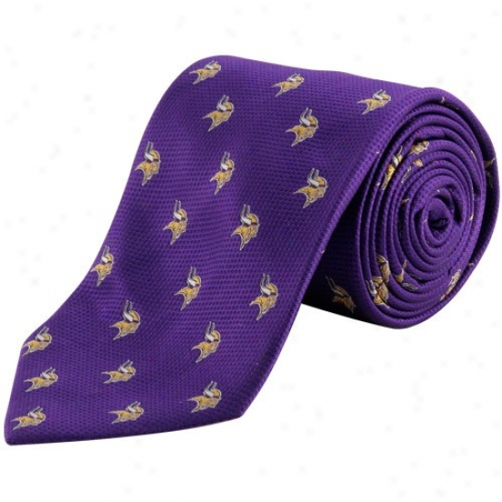 Colony Sportswear Minnesota Vikings Purple Silk Team Logo Tie