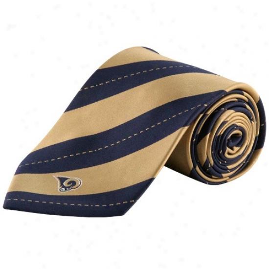 Colony Sportwwear St. Louis Rams Gold-mavy Blue Rdp Stripe Tie