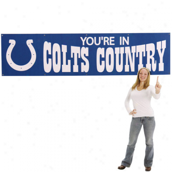 Colts Banners : Colts Royal Blue 8' X 2' Colts Country Banners