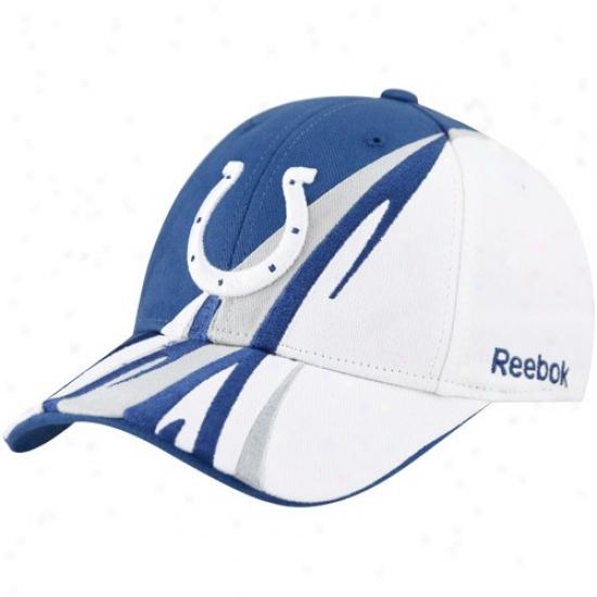 Colts Cap : Reebok Colts Royal Blue-whiet Cut & Sew Adjustable Cap