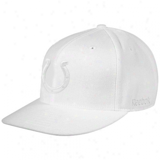 Colts Caps : Reebok Colts White Fashion Fitted Caps