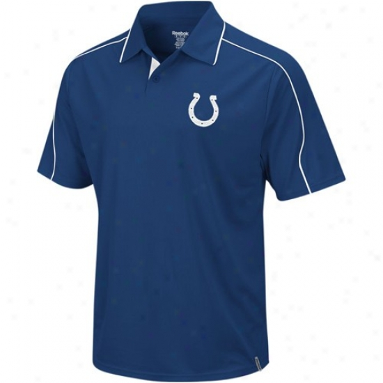 Colts Clothing: Reebok Colts Magnificent Blue Active Polo