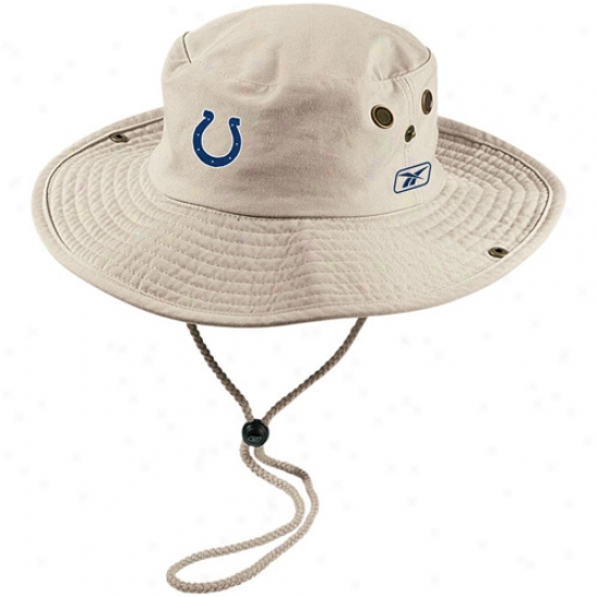 Colts Gear: Reebok Colts Khaki Safari Fitted Hat