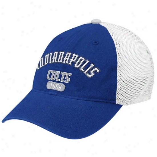 Colts Gear: Reebok Colts Royal Blue-white Jointer Flex Fit Hat