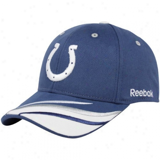 Colts Hats : Reebok Colts Royal Blue Collage Adjustable Hats