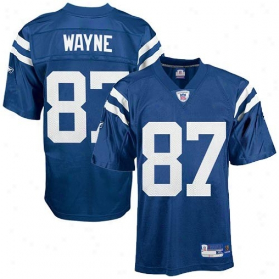 Colts Jersey : Reebok Nfl Equipment Colts #87 Reggie Wayne Preschool Royal Blue Replica Football Jersey