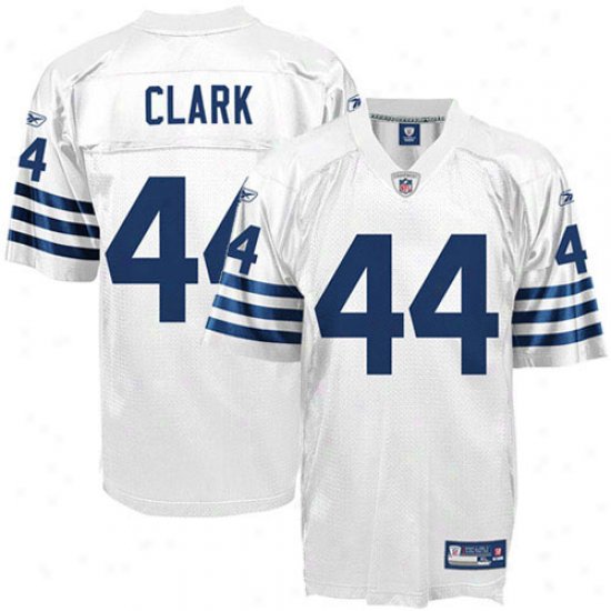 Colts Jerseys : Reebok Dallas Clark Colts Replica Jerseys - White