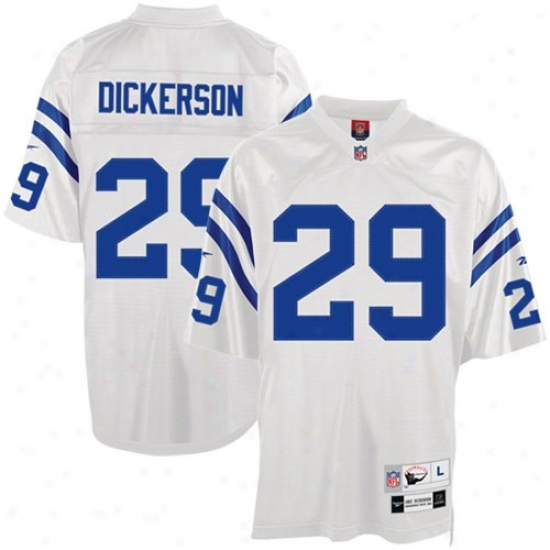Colys Jerseys : Reebok Nfl Equipment Colts #29 Eric Dickerson Tackle Twill Throwback Football Jerseys