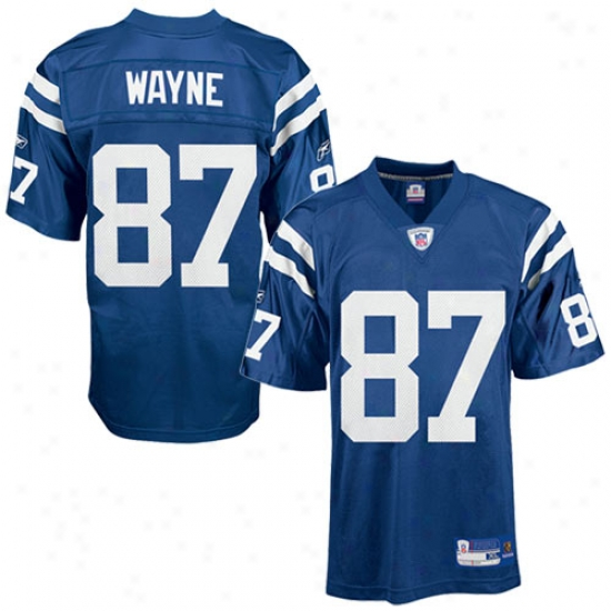 Colts Jerseys : Reebok Nfl Equipment Colts #87 Reggie Wayne Royal Blue Replica Football Jerseys