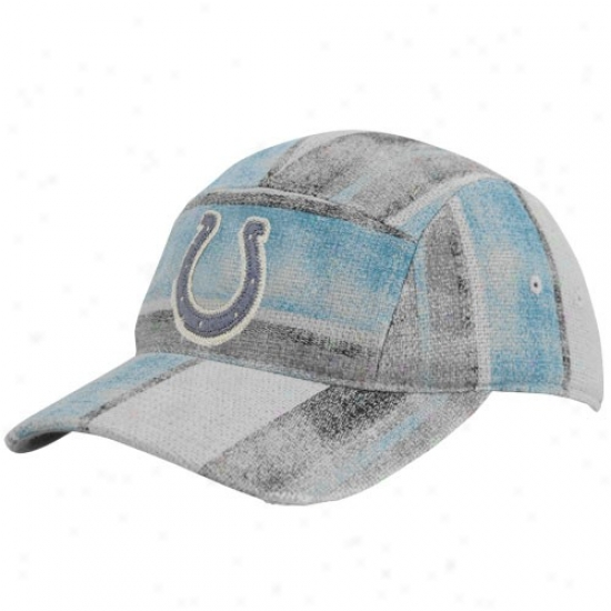 Coolts Merchandise: Reebok Colts Multi-color Distressed Patchwork Adjustable Fashion Slouch Hat