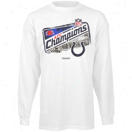 Colts Shirt : Colts Youth White 2009 Afc Champions Locker Room Lojg Sleeve Shirt
