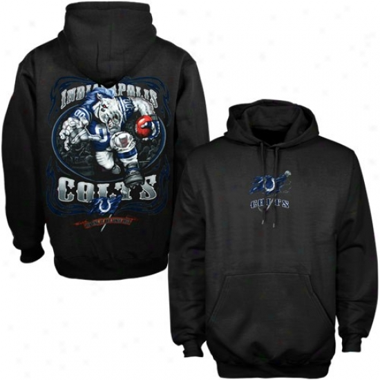 Colts Sweat Shirts : Colts Black Running Back Sweat Shirts